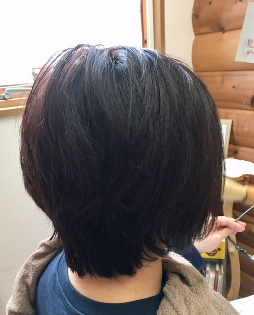 初めての癖毛のお客様です。