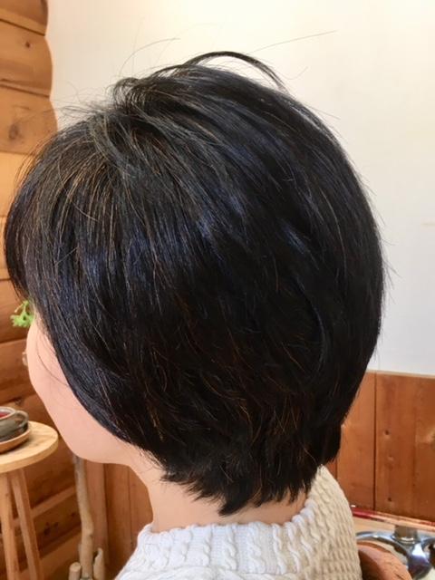 癖毛にはキュビズムカットとヘナで若く素敵になります