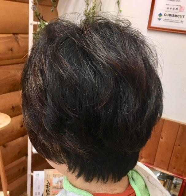 髪質改善 キュビズムカットとヘナ