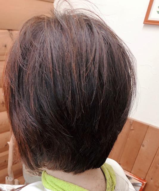 部分的な癖毛の方 キュビスムカット